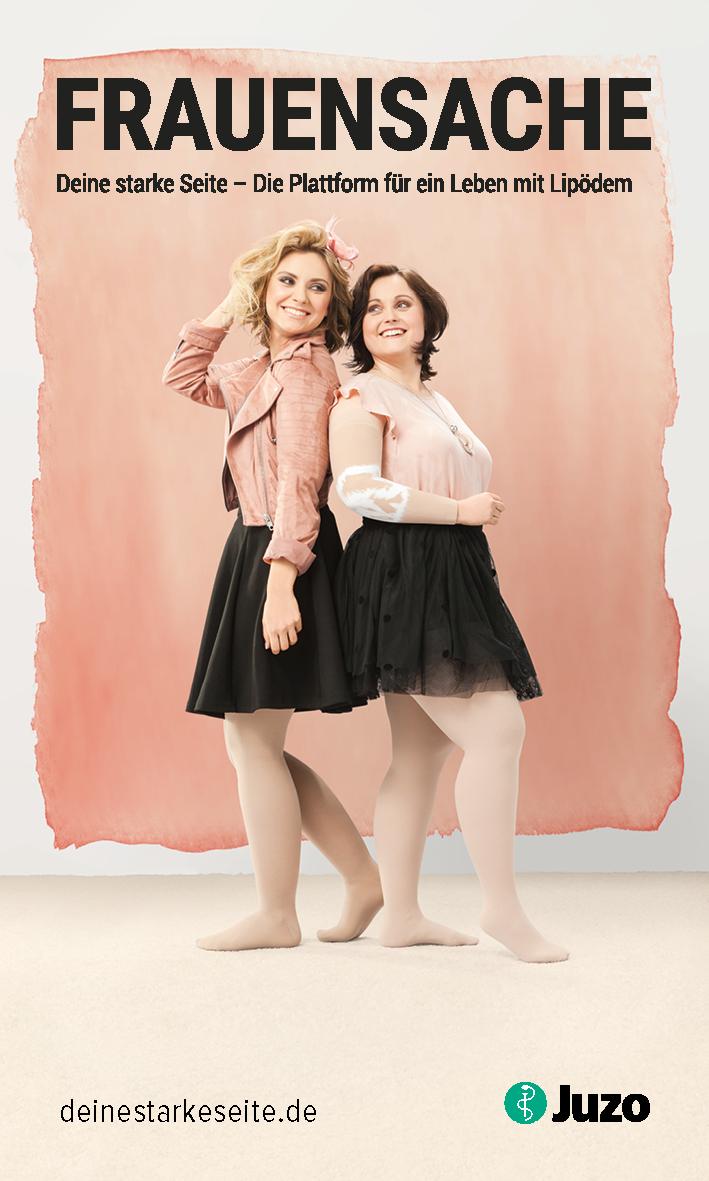 Kampagnenbild Frauensache: Zwei Frauen mit Lipödem