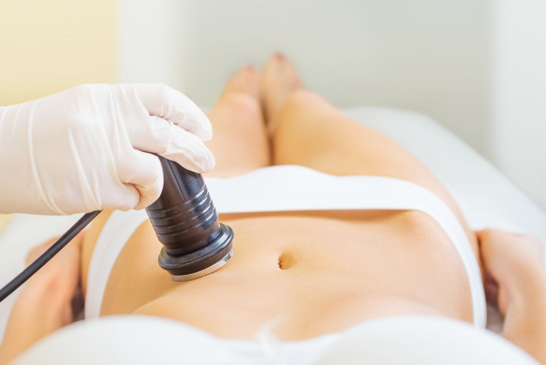 Ultraschall-Untersuchung des Bauches. Thema: Myome